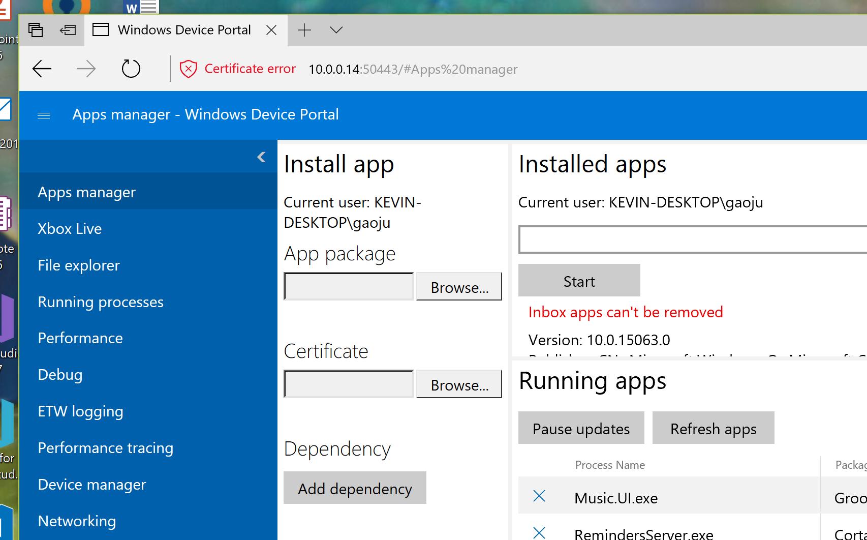 Why does Device Portal keep crashing?