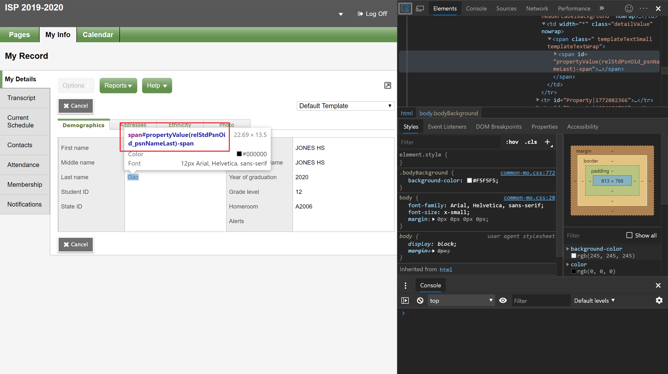 Screenshot explaining Web Scraping