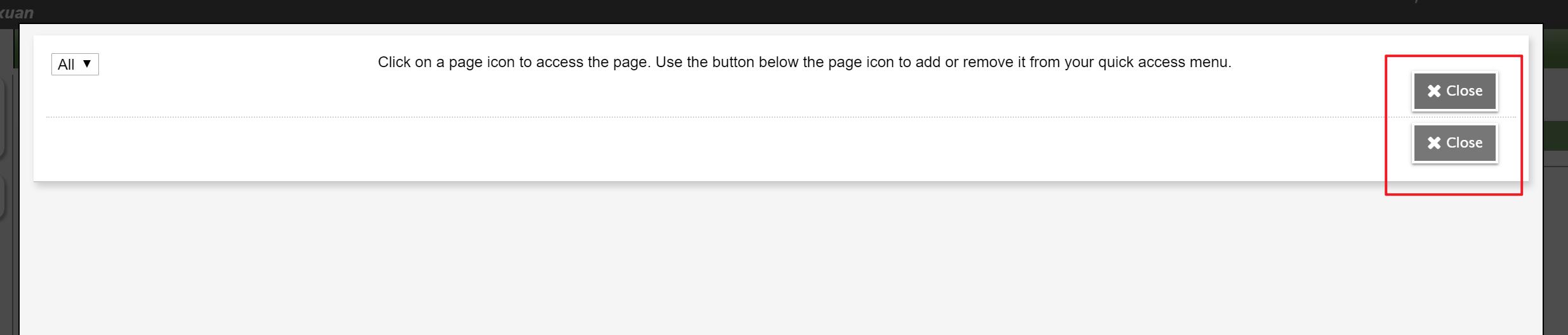 Redundant close button